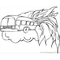 Fire Vehicle In Danger Free Coloring Page for Kids