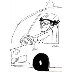 Ambulance Driver 3 coloring page