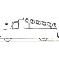 Fire Vehicle Free Coloring Page for Kids
