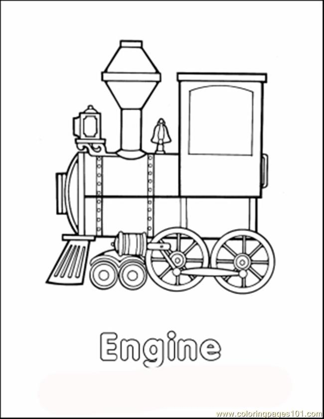 Traincolor Coloring Page