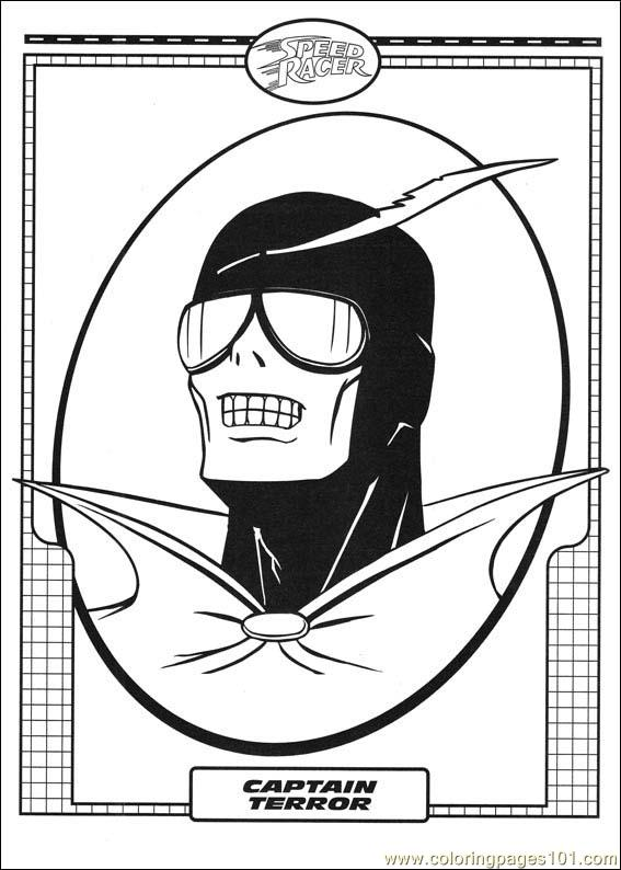 Speed Racer 35 Coloring Page