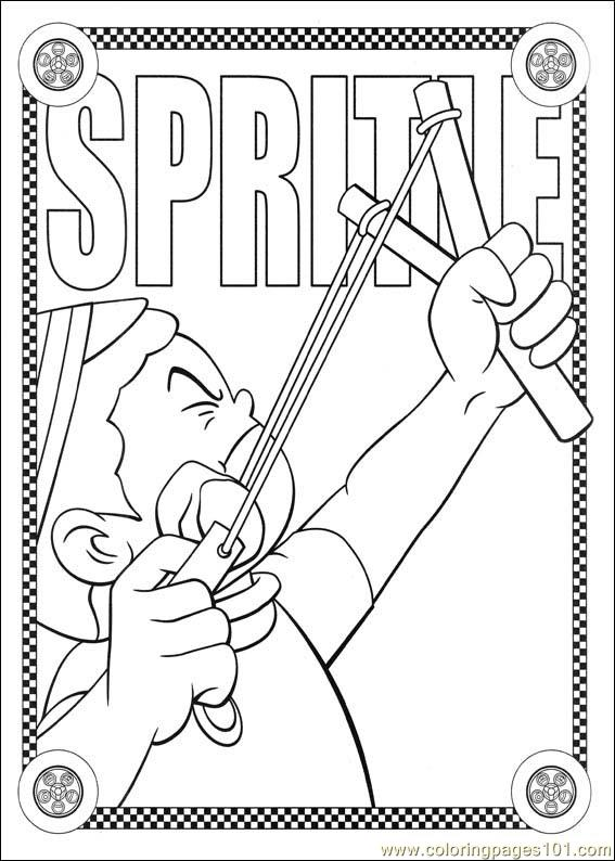 Speed Racer 45 Coloring Page