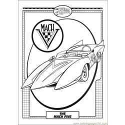 Speed Racer 05 Free Coloring Page for Kids