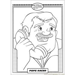Speed Racer 06 Free Coloring Page for Kids