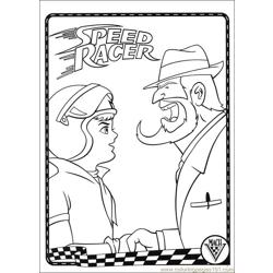 Speed Racer 07 Free Coloring Page for Kids