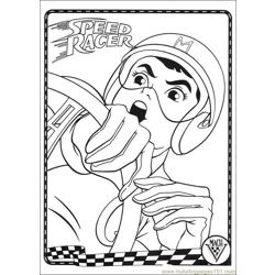 Speed Racer 12 Free Coloring Page for Kids