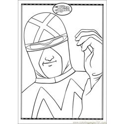 Speed Racer 14 Free Coloring Page for Kids