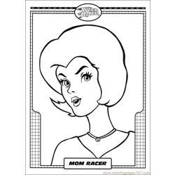 Speed Racer 17 Free Coloring Page for Kids