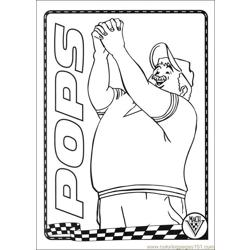 Speed Racer 19 Free Coloring Page for Kids