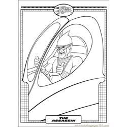 Speed Racer 32 coloring page