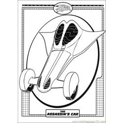 Speed Racer 33 coloring page