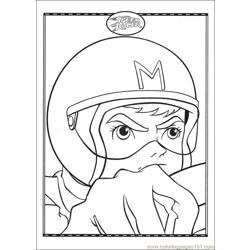 Speed Racer 34 coloring page