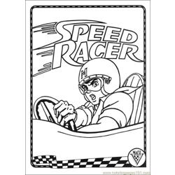 Speed Racer 37 Free Coloring Page for Kids