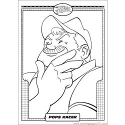 Speed Racer 40 Free Coloring Page for Kids