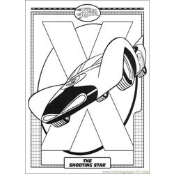 Speed Racer 42 Free Coloring Page for Kids