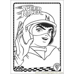 Speed Racer Coloring1 Free Coloring Page for Kids