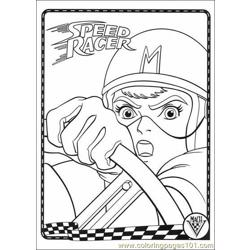 Speed Racer Coloring2 Free Coloring Page for Kids