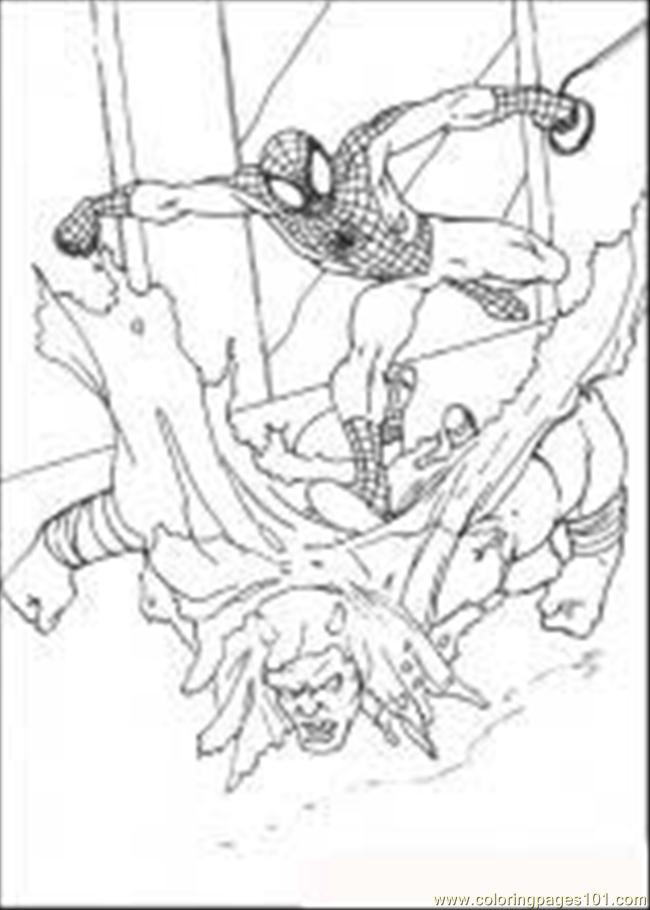 Spiderman 65 M Coloring Page
