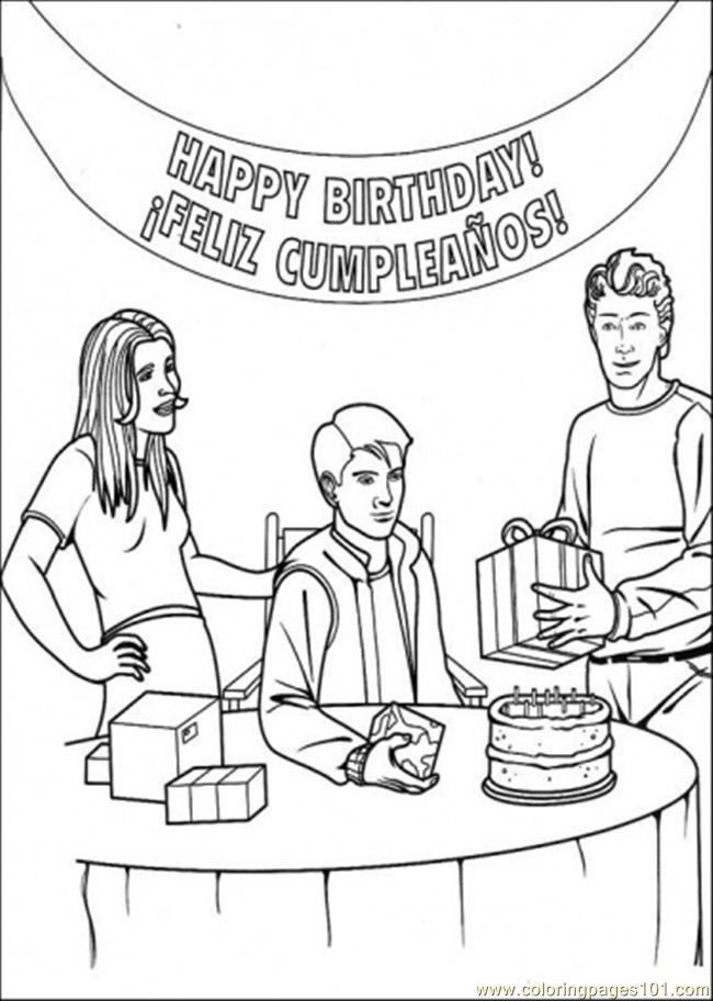 Happy Birthday Peter Parker Coloring Page