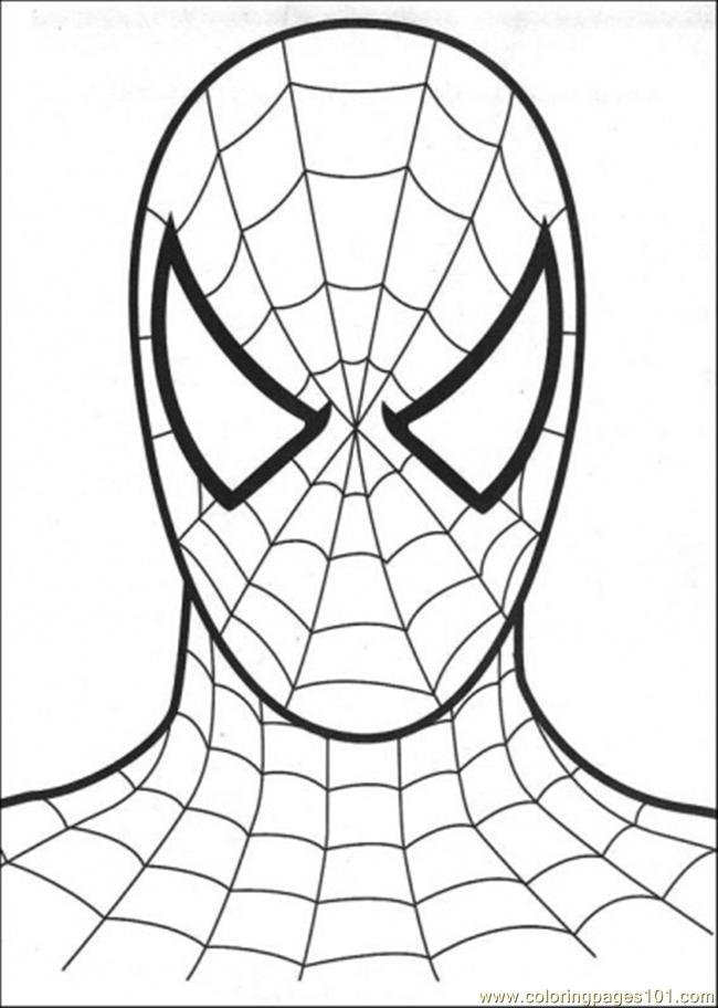 Head Of Spiderman Coloring Page Download