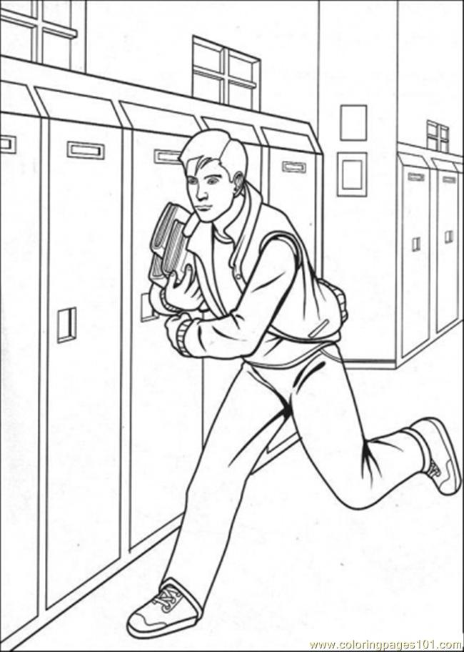 Peter Is Running Coloring Page