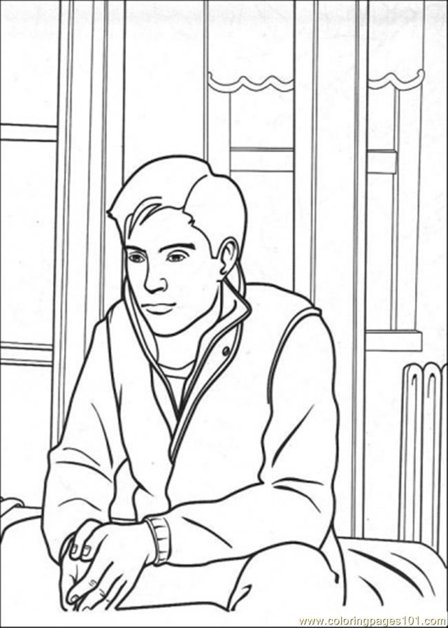 Peter Is Thinking Coloring Page