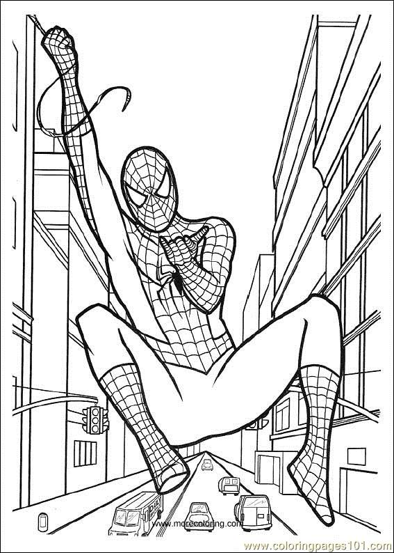 Spiderman 06 Coloring Page  Free Spiderman Coloring Pages