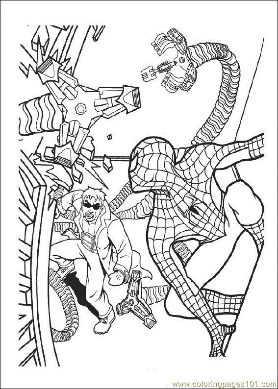 Spiderman 08 Coloring Page