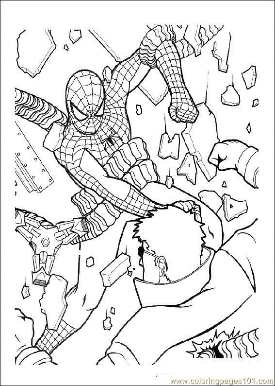 Spiderman 10 Coloring Page
