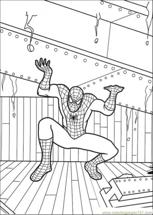 Spiderman Holds That Iron Coloring Page - Free Spiderman ...