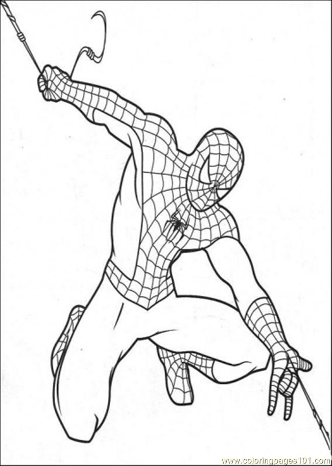 spiderman make his own string coloring page