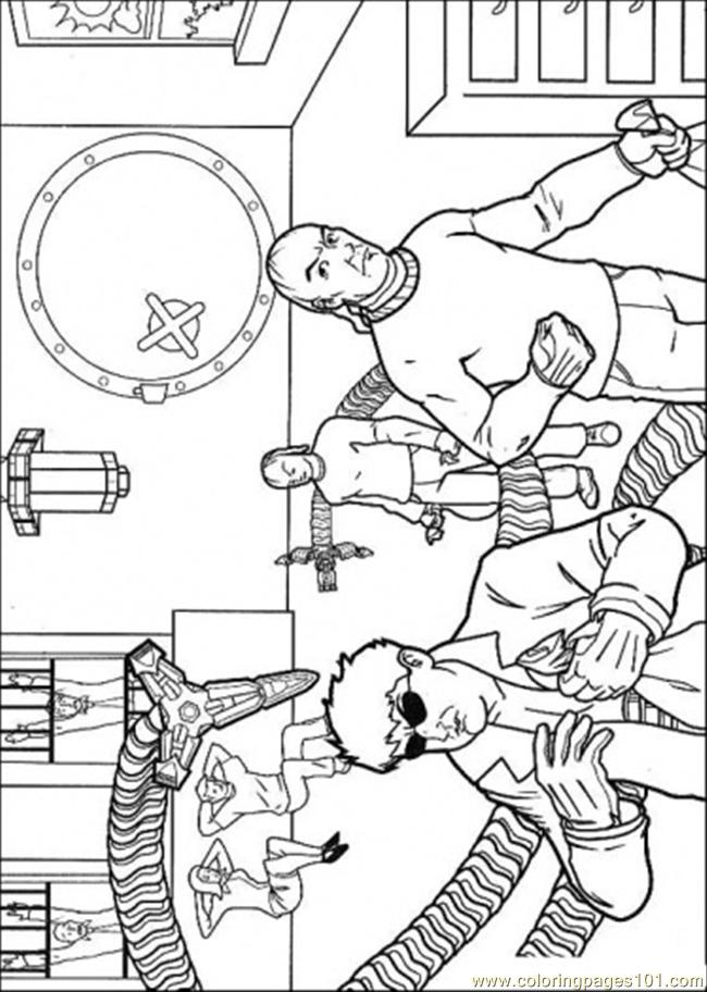 The Enemy In The Bank Coloring Page