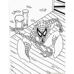 Coloring Pages Spiderman Lrg