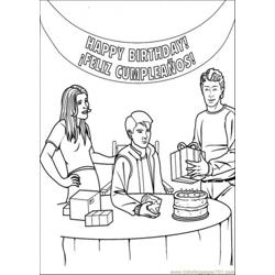 Happy Birthday Peter Parker Free Coloring Page for Kids