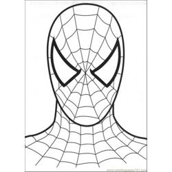 Head Of Spiderman Free Coloring Page for Kids