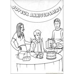 Peter Have A Party Free Coloring Page for Kids