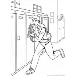 Peter Is Running Free Coloring Page for Kids