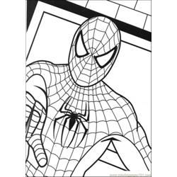 Picture Of Spiderman Free Coloring Page for Kids
