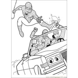 Spiderman 02 Free Coloring Page for Kids