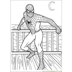 Spiderman 03 Free Coloring Page for Kids
