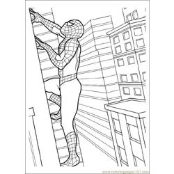 Spiderman 05 Free Coloring Page for Kids