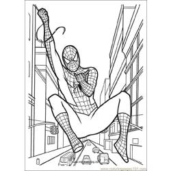 Spiderman 06 Free Coloring Page for Kids