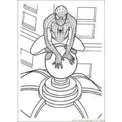 Spiderman 07 Free Coloring Page for Kids