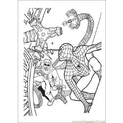 Spiderman 08 Free Coloring Page for Kids