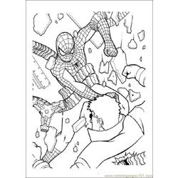 Spiderman 10 Free Coloring Page for Kids