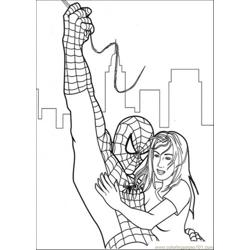 Spiderman Has Saved Her Free Coloring Page for Kids