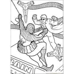 Spiderman Hit That Man Free Coloring Page for Kids