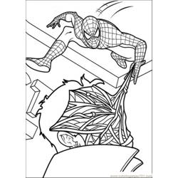 Spiderman Hit The Face Of The Enemy Free Coloring Page for Kids