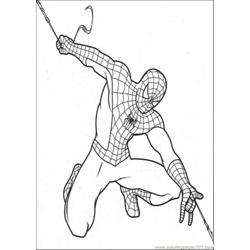 Spiderman Make His Own String Free Coloring Page for Kids