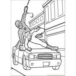 Spiderman Try To Save That Boy Free Coloring Page for Kids
